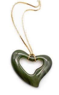 TIFFANY & CO. Chain Necklace & Jade Pendant