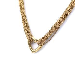 TIFFANY & CO. Elsa Peretti 18k Heart Pendant Necklace