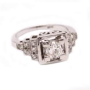 Art deco Diamonds & 18k Gold Ring