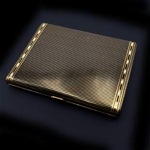 VAN CLEFF & ARPELS Paris 18k Gold Cigarrete Case