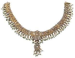 INDIAN MUGHAL COURT 21k, Diamonds necklace