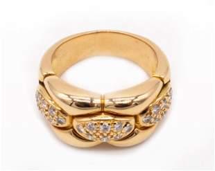 CARTIER PARIS 18k Gold & Diamonds cocktail Ring