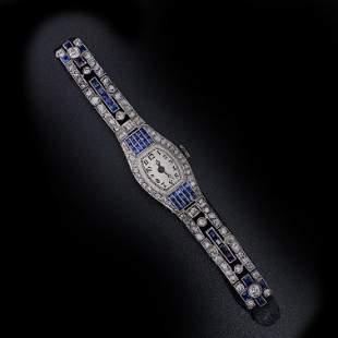 OMEGA Art Deco Sapphires, Diamonds Ladies watch