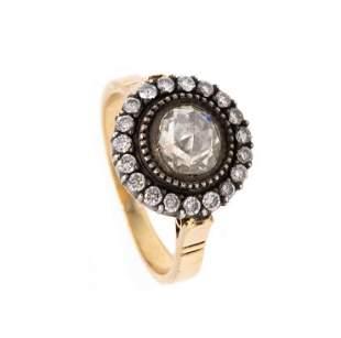 Edwardian Engagement 18k Gold & Diamonds Ring