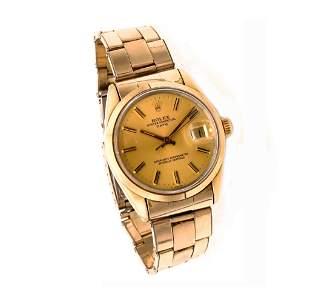 Rolex Date Plaque D´or Gold Vintage Mens Watch 1550