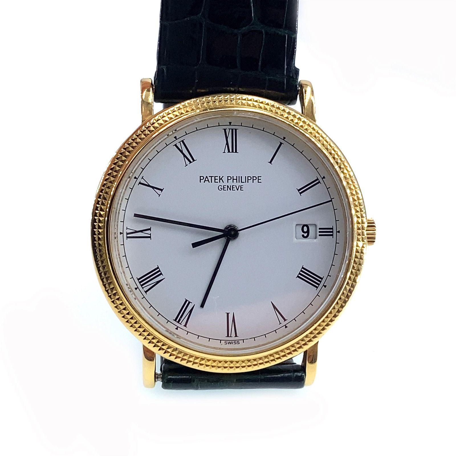PATEK PHILIPPE Calatrava 18k gold Quartz wristwatch