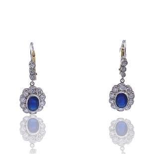 Rosetta Sapphires, Diamonds & 18k Gold Earrings