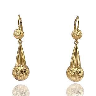 Retro 18k Gold Drop Earrings