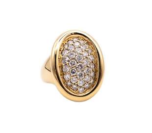CARTIER PARIS 18k Gold Diamonds Baignoire Ring