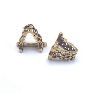 Art Deco French 18k Gold stirrup Cufflinks