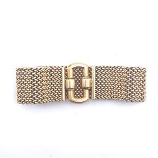 Retro cous cous 18k yellow Gold Bracelet