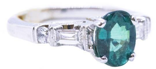 Alexandrite & Diamonds 18 kt ring