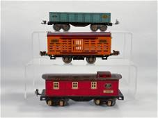 Lionel Prewar #806 Livestock Car and Ives #1677 Gondola