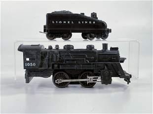 Lionel Postwar #1050 Loco, with Tender