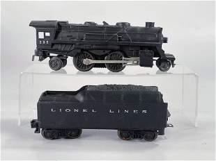 Lionel Postwar #235 Black Loco with Black Tender