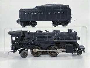 Lionel Postwar #245 Black Loco, with Black Tender