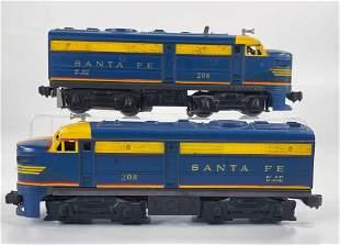Lionel Postwar #208 Santa Fe Powered Alco Unit and #208