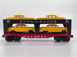 Lionel Postwar #6414 Auto-Loader Car, with Four Yellow