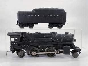 Lionel Postwar #248 Black Loco with Black Tender