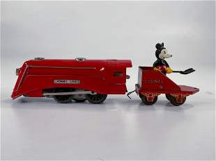 Lionel Prewar Red Mickey Mouse Loco, with Red Mickey