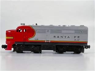 Lionel Postwar #220 Santa Fe Power Alco with Unbroken
