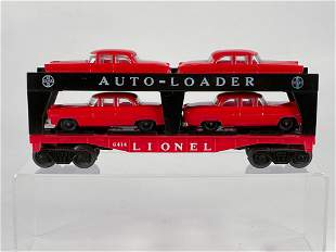 Lionel Postwar #6414 Auto-Loader Car, with Four Red