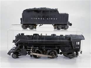 Lionel Prewar #229 Black Loco, with #2666W Tender