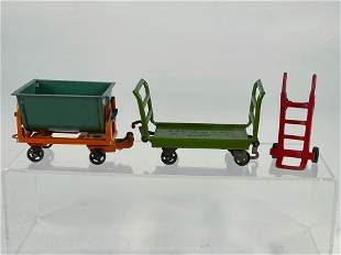 Lionel Prewar #162 Dump Truck and #161 Baggage Car and