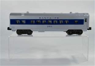 Lionel #2414 Santa Fe Blue Stripe Pullman Car