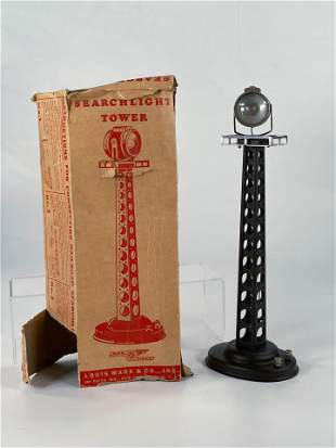 Marx Postwar Searchlight Tower, with Original Box
