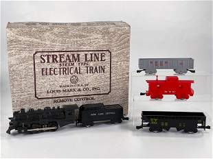 Marx Postwar Set with #400 Plastic Engine and Freight