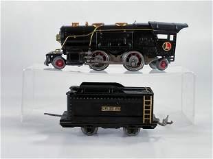 Lionel Prewar #259E Black Loco, with Black Tender