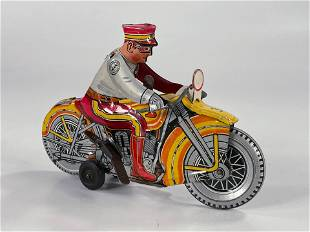 MARX Toy motorcycle rider wind up
