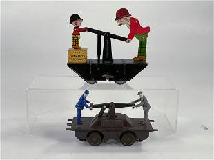 MARX Moon and Kayo toy railway hand car in litho and