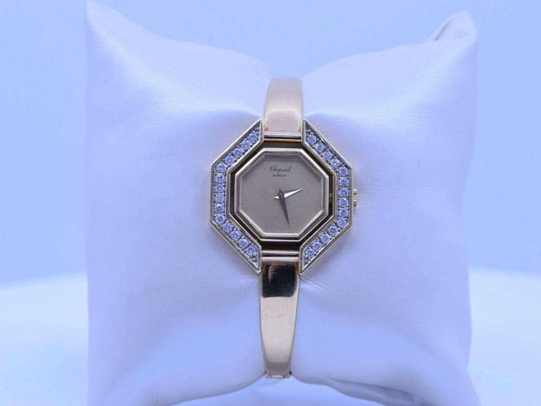 Ladies wristwatch Chopard in yellow gold 18ct. with 28