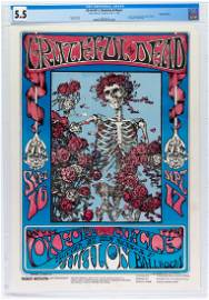 1966 FD-26 Grateful Dead First Printing Poster CGC 5.5