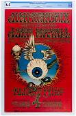 1968 BG-105 Jimi Hendrix First Printing Poster CGC 6.5