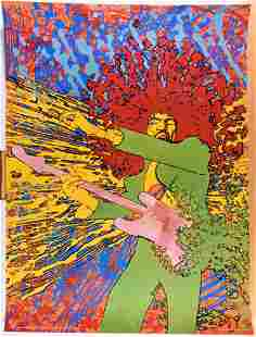 1968 Jimi Hendrix Martin Sharp / Big O Poster
