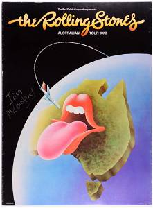 1973 Rolling Stones Australian Tour Poster SIGNED