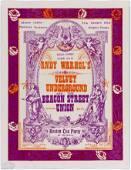 1967 Velvet Underground The Boston Tea Party Handbill