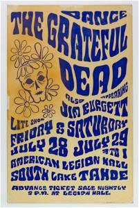 1967 Grateful Dead South Lake Tahoe Poster