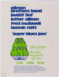 1971 Allman Brothers Civic Center Philly Handbill