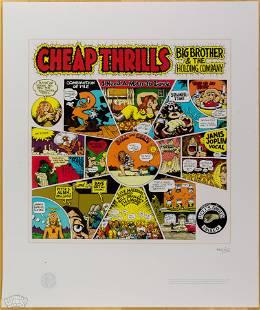 """2007 R Crumb """"Cheap Thrills"""" Janis Joplin LmtEd Poster"""