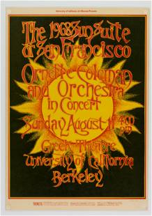 1968 Ornette Coleman Greek Theater Poster