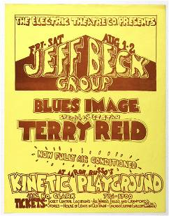 1969 Jeff Beck Group Kinetic Playground Handbill