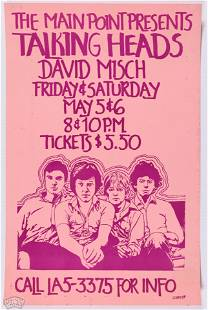 1978 Talking Heads Main Point Poster