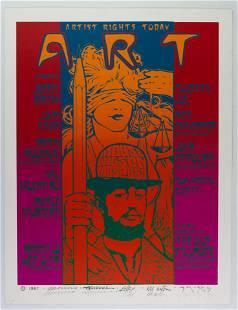 1987 A.R.T. Garcia + Signed Big 5 Lmt Ed Poster
