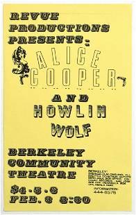 1972 Alice Cooper Howlin Wolf Berkeley Flyer
