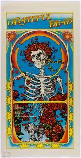 1971 Grateful Dead Skull & Roses Album Mouse Poster