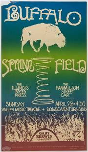 1968 Buffalo Springfield Valley Music Theatre Poster
